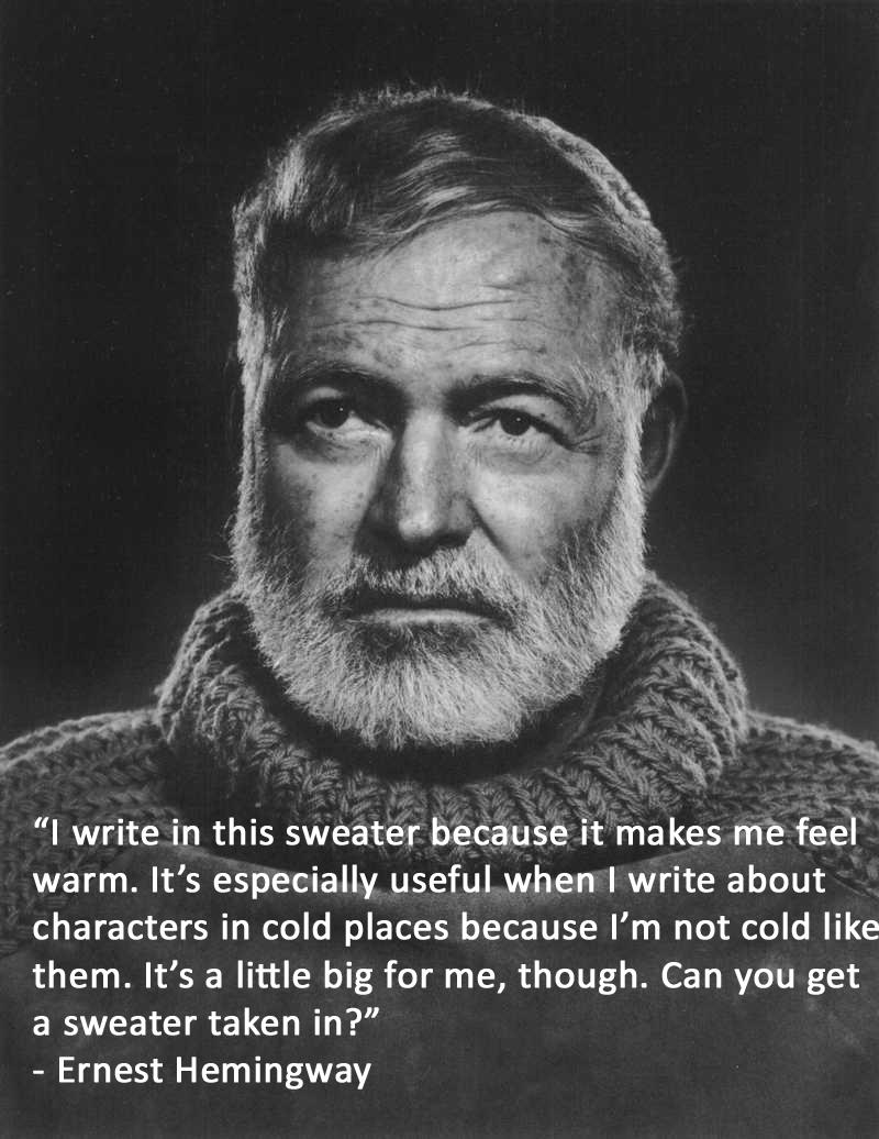Writer Misquotes: Ernest Hemingway